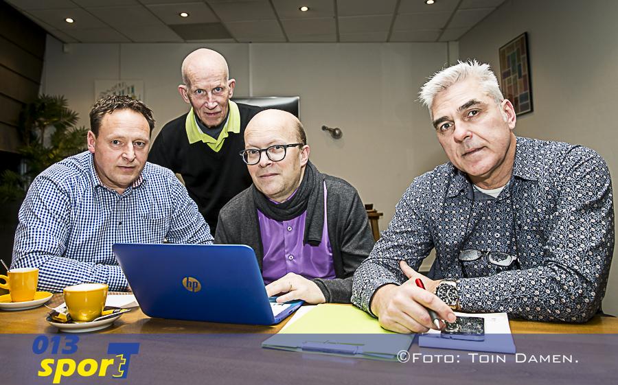 GOIRLE - Loting Pellikaan Wheels indoor tournament  20-02-2017. (L-R) Corne Maas, Niek, Arno Sparidaens en Jack Koijen.