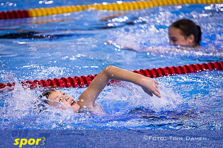 Sport ruim enthousiaste basisschoolkinderen in het water