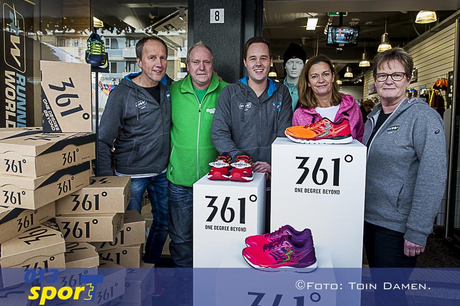 TILBURG - Runnersworld Tilburg doneert 150 paar splinternieuwe schoenen aan Gambia for You, 15-12-2017. Jacques Kusters, Schouwburgring.