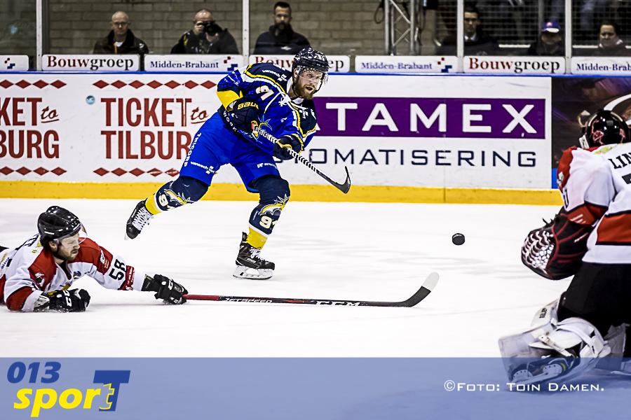 TILBURG - Tilburg Trappers - Hannover Scorpions, IJssport centrum Stappegoor, 02-04-2018. lJshockey seizoen 2017-2018. IJshockey.