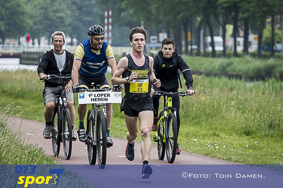 TILBURG, Tilburg marathon 13-05-2018. Job vd Steen