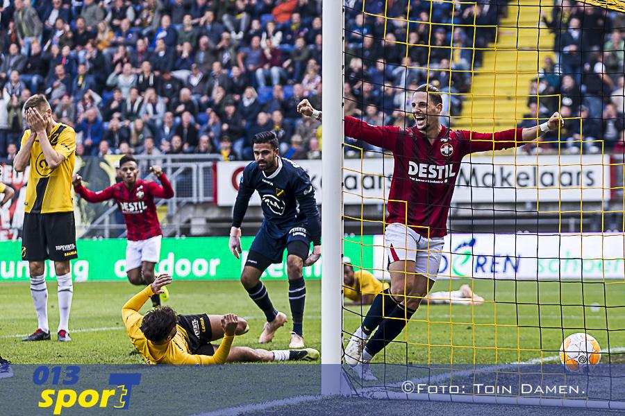 BREDA - 21-10-2018, Rat Verlegh stadion. Dutch football Eredivisie season 2018 / 2019.  Willem II player Fran Sol off side goal during the match NAC - Willem II. Final score 2-2.