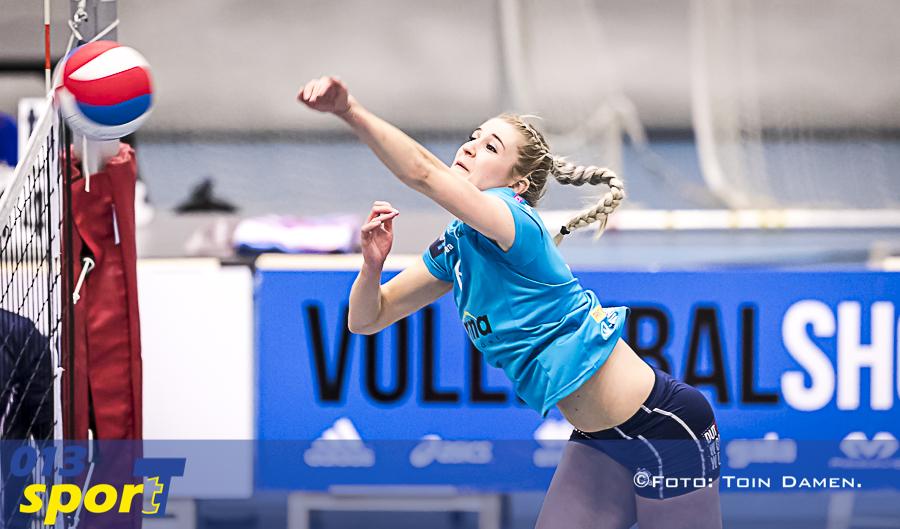 Tilburg - Volley Tilburg D1 - VC Velden 17-11-2018. T Kwadraat. Zaalsport, Volleybal.